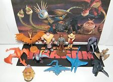 How To Train Your Dragon Figure Set of 12 Mini Dragons and Characters