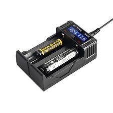 Xtar Ladegerät Schnelllader SV2 für Li-Ion/Ni-MH Akkus 2 Schacht LCD-Display