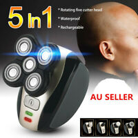 AU 5Head Rechargeable Bald Head Shaver Cordless Hair Beard Clipper Trimmer Razor