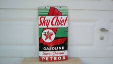 Vintage Texaco Porcelain Sign Sky Chief