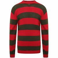 Kids Children Stripe Freddy Kruger Knit Jumper Red/Green Nightmare Sweater Top