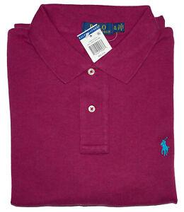 Men Polo Ralph Lauren The Iconic Mesh Polo Shirt CUSTOM SLIM FIT - S M L XL XXL