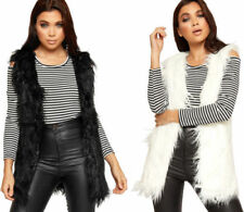 Manteaux et vestes en polyester sans manches pour femme