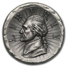 3 oz Outré High Relief Silver Round - Jefferson Liberty - SKU#171018