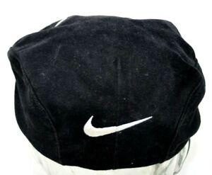 Vintage Nike Swoosh Black Beret Style Hat Cap Size Small Michael Jordan RAREEEE!
