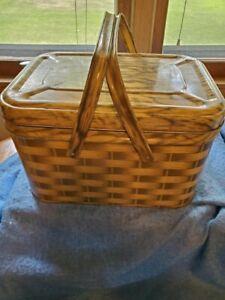 Vintage Mid-Century Metal Picnic Basket