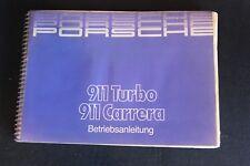 Betriebsanleitung Porsche 911 Turbo / 911 Carrera (Deutsch) (NA)