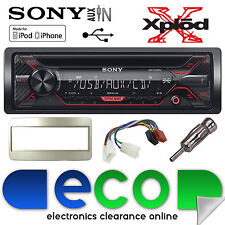 Toyota MR2 97-07 Sony G1200U CD MP3 USB AUXINA Iphone AUTORADIO STEREO KIT D'ARGENTO