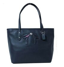 NWT COACH Mini City Zip Tote Shoulder Leather Bag Bow Midnight Navy Cute F28988