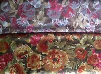 Satin (€10/m²) 0,3 m Blumenmuster geblümt 1,5 m breit