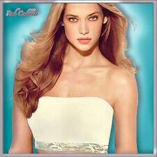4in1 COTTON White Strapless Lace Boob Tube Top  Bra All Purpose Bandeau XS-S-Μ-L