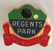 Regents Park Bowling Club Badge Rare Vintage (K6)