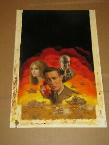 "MORT KUNSTLER Original Gouache Illustration Painting on Board 15""x26"""