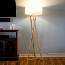 Modern Wood Floor Lamp Contemporary LED Ambient Light Unique Minimalist Lighting