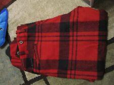 Antique Vintage Wool Hunting Pants Red Black Plaid 36 X 29 Outdoor Winter Loggin