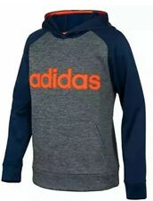 NWT Adidas Boys' Athletic Pullover Hoodie Color: Navy/Orange Size: L (14/16)