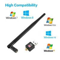 600Mbps Dual Band USB WiFi Wireless Dongle 802.11AC Lan Network Adapter 2.4/5GHz