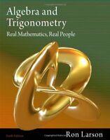 Algebra And Trigonometry Real Mathematics Real People    by Ron Larson
