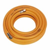 "Sealey AHHC10 Air Hose 10mtr x Ø8mm Hybrid High Visibility with 1/4""BSP Unions"