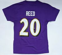 Mitchell and Ness Ed Reed Baltimore Ravens #20 NFL Throwback T-Shirt Size Small