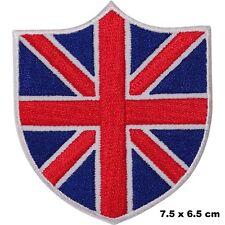 British UK Flag Union Jack Shield Iron-on Embroidered Patch Costume Dress Badge