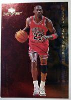 MICHAEL JORDAN 1999-00 UPPER DECK MVP MOMENTS #MJ1, Rare MJ Gold Foil Insert