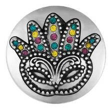 Buy 4, Get 5Th $6.95 Snap Free Ginger Snap Jewelry Mardi Gras Mask Sn10-52
