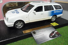 MERCEDES BENZ E CLASS SERVICE 24H blanc 1/18 ANSON 30370 voiture break miniature