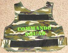 "Camoflague Green 34"" Comando Squad Police Polyester Vest Costume"