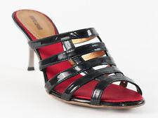 New Roberto Cavalli  Black Patent leather Sandals Size 37 US 7