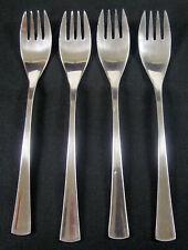 """4 Reed & Barton Rebacraft Narvik Korea Stainless Dinner Forks 7 1/2"""""""