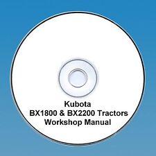 Kubota BX1800 & BX2200 Tractor  Workshop Manual