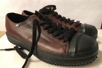 VINTAGE POLO SPORT  MENS BROWN LEATHER TENNIS SHOES 8.5