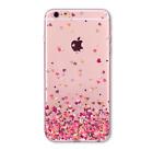 Funda Original Iphone 6 6s 7 5 5s se 7Plus 6Plus Transparente Confetti Corazones