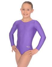 Vêtements de sport justaucorps violette pour fille de 2 à 16 ans