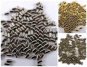 Spacer Beads Metal Tube Capsule 100 pcs 6*2 mm Jewelry Findings