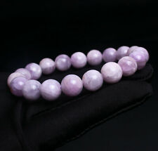 Crystal Round Beads Bracelet 10.4mm Genuine Natural Purple Kunzite