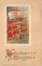 VALENTINE HOLIDAY CUPID HEARTS MUSIC EMBOSSED WINSCH POSTCARD 1915