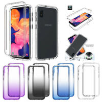 For Samsung Galaxy A10e A20 A50 Shockproof Clear Case Cover + Screen Protector