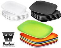 Bruntmor 10 In Ceramic Square Dinner Plates Set of 6 Reusable Restaurant Dishes