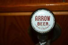 Very Rare Vintage Arrow Beer Ball Draft Tap Handle And Antique Keg Cooler