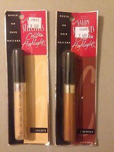 lot of 4 Salon Selectives Custom Highlights Brush on Hair Mascara 4 ct