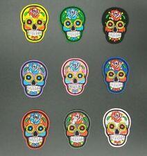 parche calavera colores skull mexicano mexican mejico muerte colores patch flor