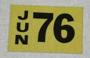 1976 Delaware passenger car license plate sticker