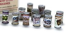 Dollhouse Miniature Cans of Food w/Old Fashioned Labels, Pkg of 24