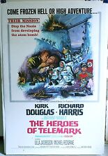 The HEROES OF TELEMARK 1966  27 X 41 + linen Kirk Douglas & Richard Harris WWII