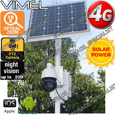 Home Security Camera 4G Solar Farm House PTZ 18XOptical Zoom GSM Live View 3G