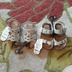 Lot Of 2 Toddler Girl Sandals, Size 8 Toddler, NWT