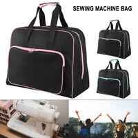 Noir rembourré machine à coudre sac/Carry cas avec poche Craft rangement unisexe