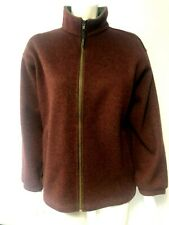Musto Mens Performance Fleece Jacket red wine green fleck size Small - BNWOT